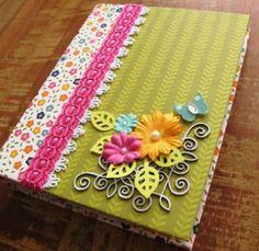 Esta capa para caderno de anotações pode ter o estilo que você quiser (Foto: hak.com.br)