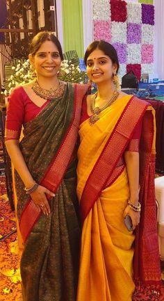 Indian Dresses, Indian Outfits, Phulkari Saree, Indian Silk Sarees, Simple Sarees, Saree Trends, Elegant Saree, Saree Look, Traditional Sarees