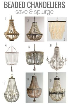 Salle à manger Have your eye on beaded chandeliers? I've rounded up some of my favourite sa