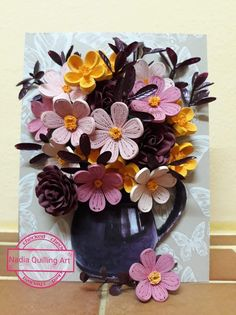 Easy Arts And Crafts, Diy And Crafts, Simple Crafts, Quilling Videos, Paper Quilling, Paper Art, Flowers, Projects, Horse