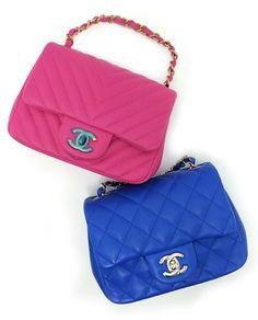 7cbd15764635c2 Chanel A35200 Classic CC Mini Flap Bag (Available in Fuchsia and Blue) So  cute