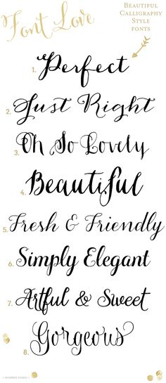 Font Love Series - Fonts - Ideas of Fonts - 8 Gorgeous calligraphy style fonts Fancy Fonts, Cool Fonts, Elegant Fonts, Pretty Fonts, Font Love, Police Font, Pattern Texture, Vintage Logo, Cricut Fonts