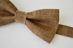 Hey, I found this really awesome Etsy listing at http://www.etsy.com/listing/116333475/mens-bowtie-in-brown-linen