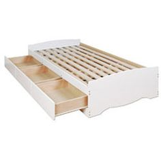 White Twin Mate's Platform Storage Bed with 3 Drawers | Overstock™ Shopping - Great Deals on Beds