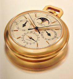 Patek Philippe Perpetual Calendar Split Second Moon Phase Chronograph Pocket Watch #781 - Christie's 175th Anniversary Patek Philippe Auction @ CraftedRight.com