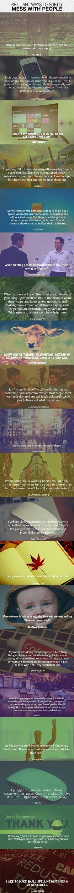 Perturber les gens