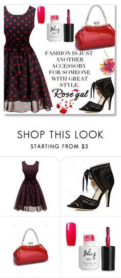 """""""Rosegal"""" by semiragoletic ❤ liked on Polyvore featuring vintage, dress, women and rosegal"""