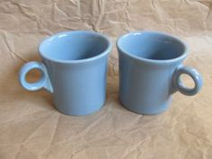 Two Fiesta Mugs Periwinkle Blue by VintageIntent for $12.00