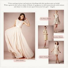 Our stylist Angela created an easy guide to help you pair your bridesmaid dresses to your gown, see the album on FB
