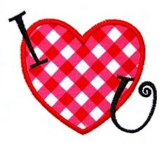 I {Heart} U Applique - 3 Sizes! | Words and Phrases | Machine Embroidery Designs | SWAKembroidery.com JesseKate Designs