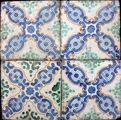 Azulejos Majolica - Made by Palladino - 1890 to 1910 - Ceramic Tiles