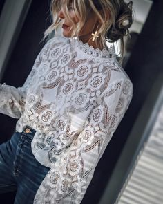 Shop Floryday for affordable Tops. Floryday offers latest ladies' Tops collections to fit every occasion. Look Fashion, Spring Fashion, Autumn Fashion, Fashion Outfits, Womens Fashion, Fashion Blouses, Zara Fashion, Fashion Hacks, 2000s Fashion
