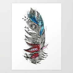 Buy Garden Feather Art Print by himadripachori. Worldwide shipping available at Society6.com. Just one of millions of high quality products available.