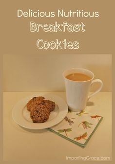 Need a nutritious breakfast that you can grab and go?  This recipe makes delicious breakfast cookies that are packed with nutrients!  Make a batch and freeze them, then just thaw a couple for a yummy, nutritious breakfast treat.