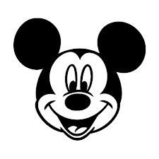 The Mickey Mouse Head Design Wall Art Sticker Vinyl Decal - Girls Boys Kids Bedroom School House Wall Vinyl Sticker Decor Peel and Stick Classic Mickey Mouse, Mickey Mouse Head, Auto Tattoo, Mouse Silhouette, Wall Painting Decor, Wall Art Designs, Colorful Pictures, Easy Drawings, Vector Art