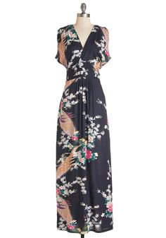 Feeling Serene Dress in Evening. Glide through your day feeling dreamy as can be in this printed maxi dress from Ruby Rocks!  #modcloth