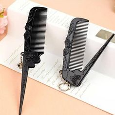 Antistatic Fold Tail Comb Salon Folding Combs Hairdressing Hair Brush Comb Hair Care Anti-Static pocket brush A6 #Affiliate