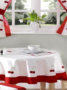 Red U0026 White Cherry Place Mat