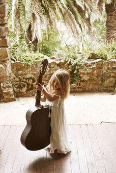 Cutie & her guitar