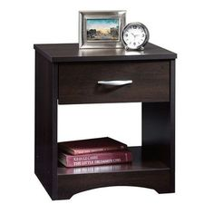 night stand table drawers shelf storage bedroom stand shelves wood set coffee  #sauder #Traditional