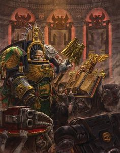 Space Marine Chaplain. Faith is with him.