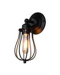 Vintage Industrial Style Iron Grapefruit-like Shade Wall Sconce