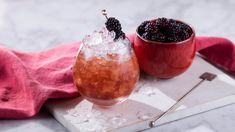 Perfectly poised between fruity, sour, sweet and boozy - expect an adventure in a glass. Blackberry Drinks, Raspberry Syrup, Gin Cocktail Recipes, Cocktails, Picnic Drinks, Bramble Cocktail, The Brambles, Fresh Lemon Juice, Restaurant Service