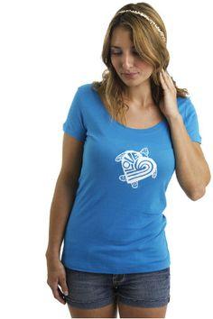 Women's Sea Turtle Love Scoop Neck T shirt on Etsy, $22.00