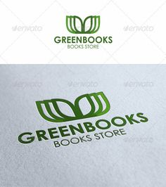 Green Books Logo - Symbols Logo Templates
