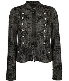 Daytrip Lace Print Military Jacket. Love this. My style is so weird. LOL.