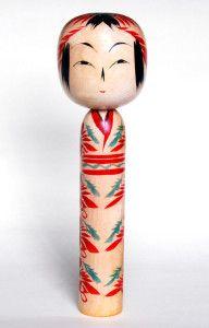 Togatta kokeshi doll by Agatsuma Kichitsuke