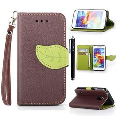 S5 Mini Case KINGCOOL(TM) Cute Tree Leaf Design Magnetic Flip Stand Leather Wallet Case Cover with Free Stylus for Samsung Galaxy S5 Mini(Brown) Specially designed for Samsung Galaxy S5 mini Made of high quality PU leather material+magnetic flip design Includes slots to store your credit cards / business cards Provides protection and prevents scratches and dirt from accumulating Full access to all functions