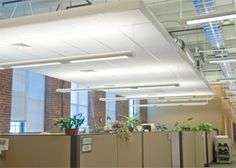 Open office lighting fixtures