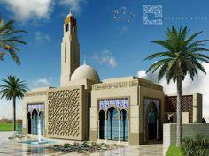 Mosque Architecture, Neoclassical Architecture, Religious Architecture, Architecture Details, Modern Architecture, Auditorium Design, Classic House Design, Beautiful Mosques, Entrance Design