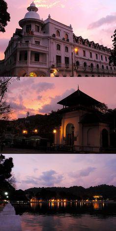 Nightfall, Kandy, Sri Lanka #SriLanka #Kandy #QueensHotel #Lake,  source images by Driss and Marrionn (https://www.flickr.com/photos/drriss) - https://www.flickr.com/photos/drriss/9074400321/sizes/l - https://www.flickr.com/photos/drriss/9076630848/sizes/c/ - https://www.flickr.com/photos/drriss/9076631188/sizes/c/