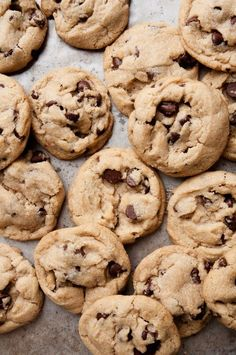 The Best Vegan Chocolate Chip Cookies. need to find replacement for chocolate chip Healthy Vegan Dessert, Vegan Dessert Recipes, Vegan Treats, Vegan Foods, Cookie Recipes, Best Vegan Desserts, Sweets Recipes, Best Chocolate Chip Cookies Recipe, Best Vegan Chocolate