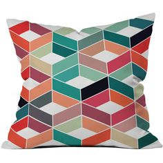 Dot & Bo Diamond Days Pillow - Pillow Cover Only ($31) ❤ liked on Polyvore featuring home, home decor, throw pillows, patterned throw pillows, retro throw pillows, diamond home decor and retro home decor