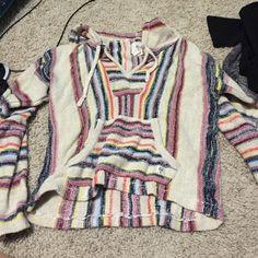 Billa Bong sweatshirt Stripped drug rug type sweatshirt Tilly's Sweaters Shrugs & Ponchos