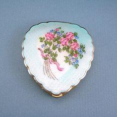 Guilloche Powder Compact Art Deco La Mode by AtticDustAntiques, $48.00