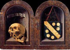 'Le Diptyque Carondelet' de Jan Gossaert (Mabuse) (1478-1532, France) Première représentation d'un crâne