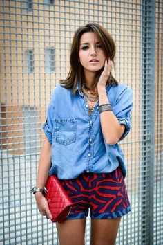 How to Wear a Denim Shirt This Summer | StyleCaster