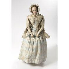 Doll and clothing circa 1845