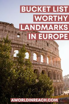 From the Colosseum to the Eiffel Tower to the Acropolis and the Tower of London, Europe has no shortage of landmarks for travelers looking to check things off their bucket lists. Planning a trip to Europe? Check out these famous landmarks in Europe to add to your itinerary! / famous Europe landmarks / iconic landmarks in Europe / famous Europe sights / things to do in Europe / Europe bucket list attractions / historic sights in Europe / Europe itineraries / places to go in Europe / Europe travel Hiking Europe, Europe Travel Guide, Travel Guides, Travel Destinations, European Travel Tips, European Vacation, European Destination, Europe Bucket List, Best Places To Travel