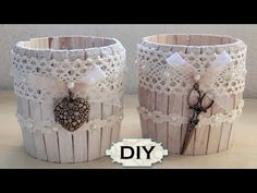 Tutorial: Barattolo in Legno Shabby Chic |Riciclo Creativo con Mollette e Barattoli| DIY Jar Wooden - YouTube