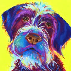 Udo.  He looks a wire haired griffon but looks like a labradoodle.  A 12x12 Pop Art acrylic painting.  Custom art work accepted.  More art at www.karrenmgarces.com