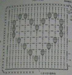 colcha de croche com grafico