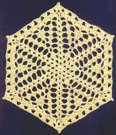 free crochet doily pattern small 259x300 Small Hexagon Free Crochet Doily Pattern