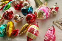 Beautiful antique ornaments from a client's collection... they look like candy! HOMEWARDfoundDecor.com