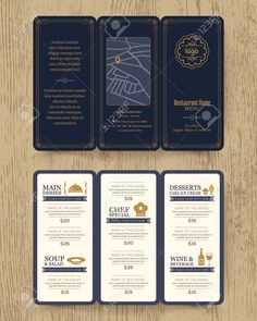 Vintage Restaurant Menu Design Pamphlet Vector Template In A4.. Royalty Free Cliparts, Vectors, And Stock Illustration. Image 42304372.