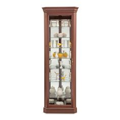 "Lighthouse Octave III Lighted Corner Curio Cabinet 80"" high $672"